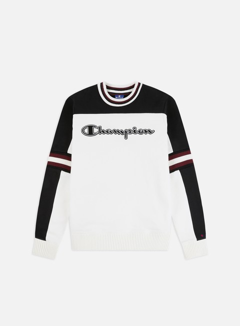 Outlet e Saldi Felpe Girocollo Champion Colour Block Ribbed Crewneck