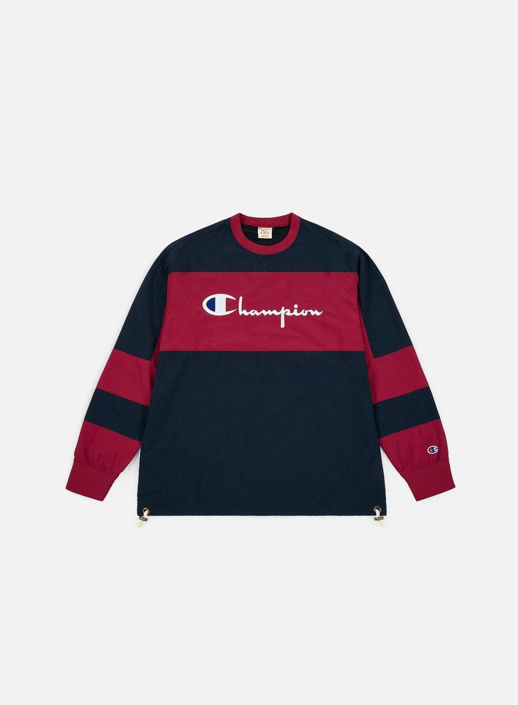 Champion Colour Block Script Logo Crewneck
