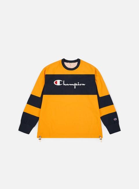 Crewneck Sweatshirts Champion Colour Block Script Logo Crewneck