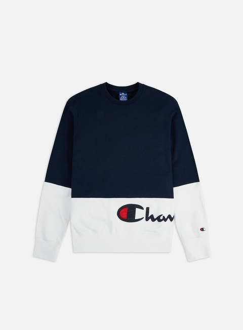 Outlet e Saldi Felpe Girocollo Champion Colour Block Wraparound Logo Crewneck