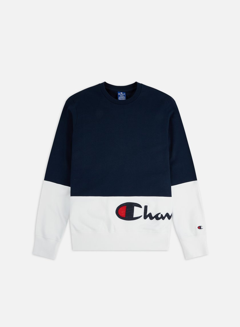 Champion Colour Block Wraparound Logo Crewneck