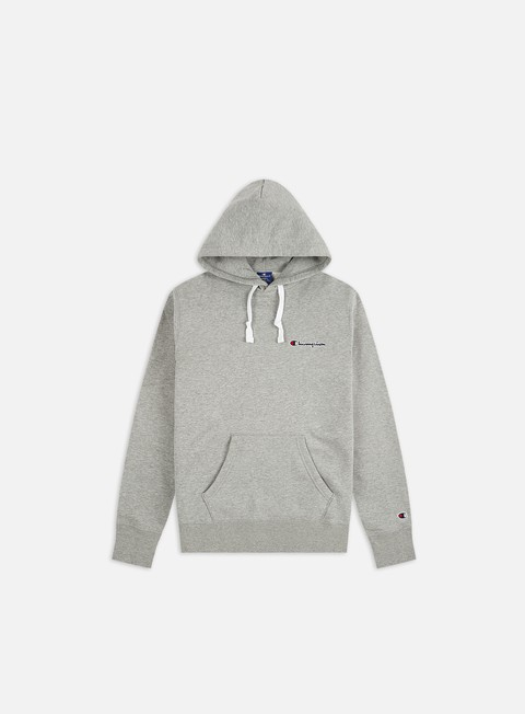 Hooded Sweatshirts Champion Embroidered Logo Hoodie