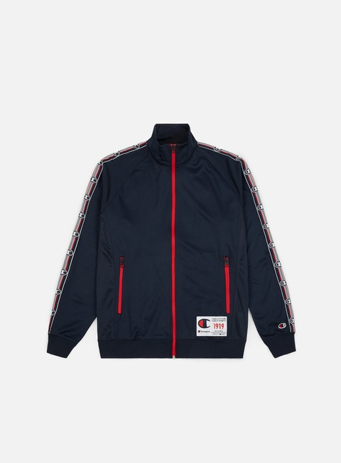 felpe champion full zip track top navy