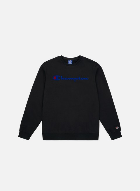 felpe champion garment washed crewneck black