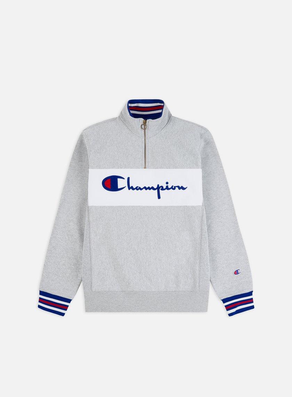 Champion Half Zip Logo Mock Neck