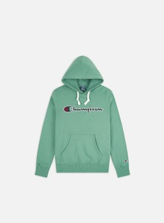 Champion - Large Embroidered Logo Hoodie, Green