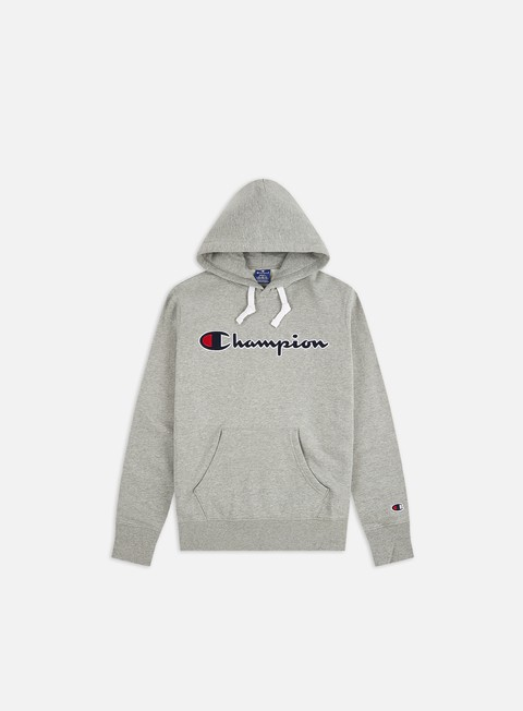 Felpe con Cappuccio Champion Large Embroidered Logo Hoodie