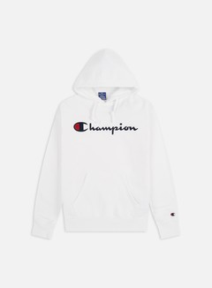 Champion - Large Embroidered Logo Hoodie, White
