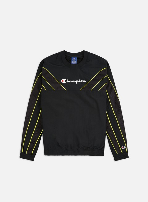 Sale Outlet Crewneck Sweatshirts Champion Mesh Inserts Track Crewneck