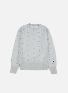 Champion - Reverse Weave All Print  Terry Crewneck, Heather Grey 1