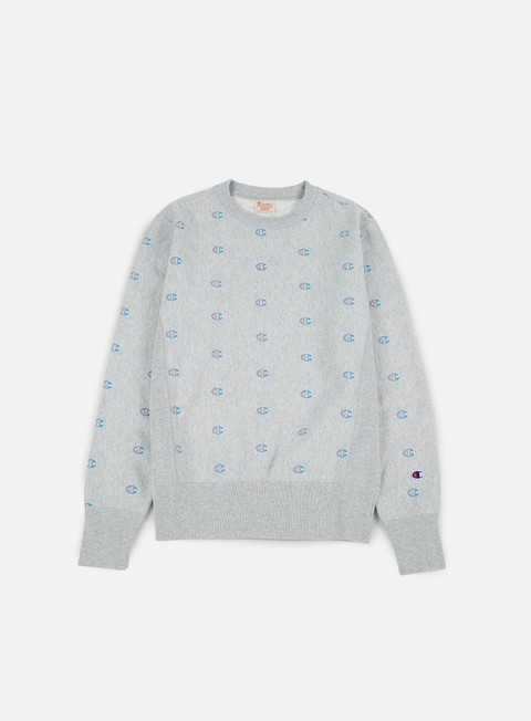 Outlet e Saldi Felpe Girocollo Champion Reverse Weave All Print  Terry Crewneck