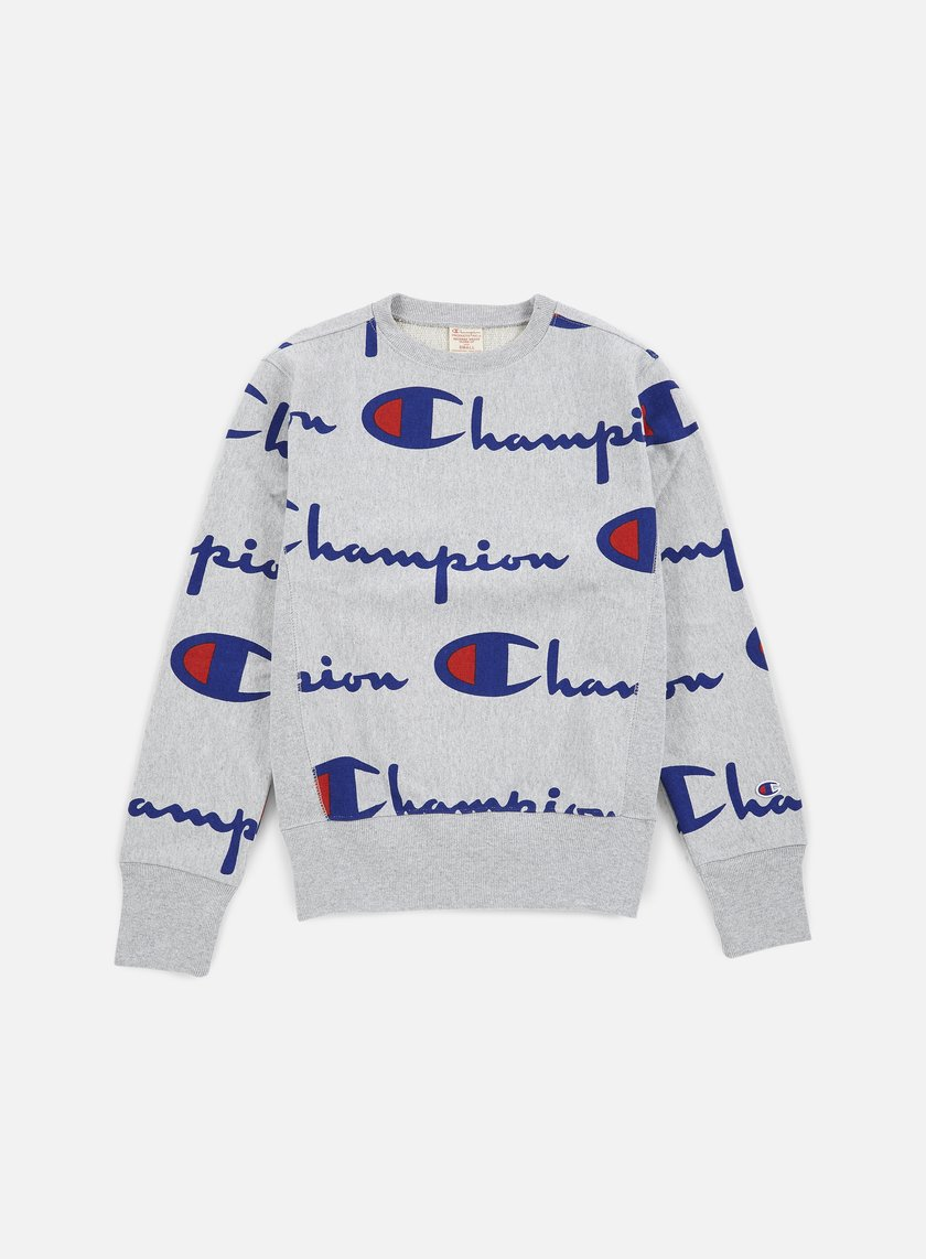 Champion - Reverse Weave Allover Crewneck, Heather Grey