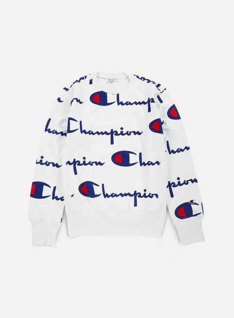 felpe champion reverse weave allover crewneck white
