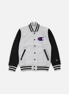 Champion - Reverse Weave Bomber Fleece , Heather Grey/Black 1
