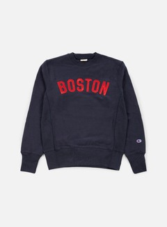Champion - Reverse Weave Boston Terry Crewneck, Navy 1
