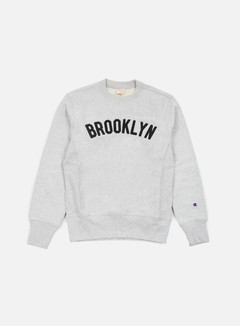 Champion - Reverse Weave Brooklyn Terry Crewneck, Heather Grey 1