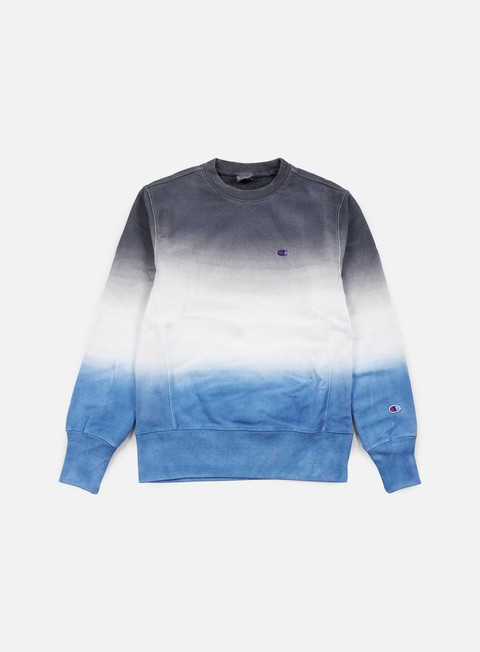 felpe champion reverse weave gradient terry crewneck navy