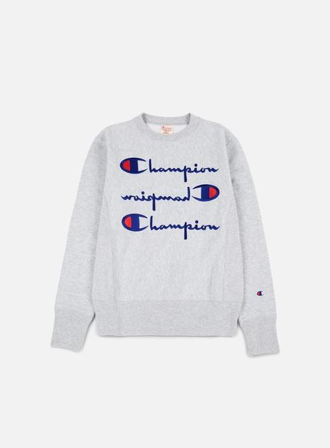 Crewneck Sweatshirts Champion Reverse Weave Multi Script Terry Crewneck