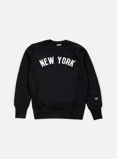 Champion - Reverse Weave New York Terry Crewneck, Black 1