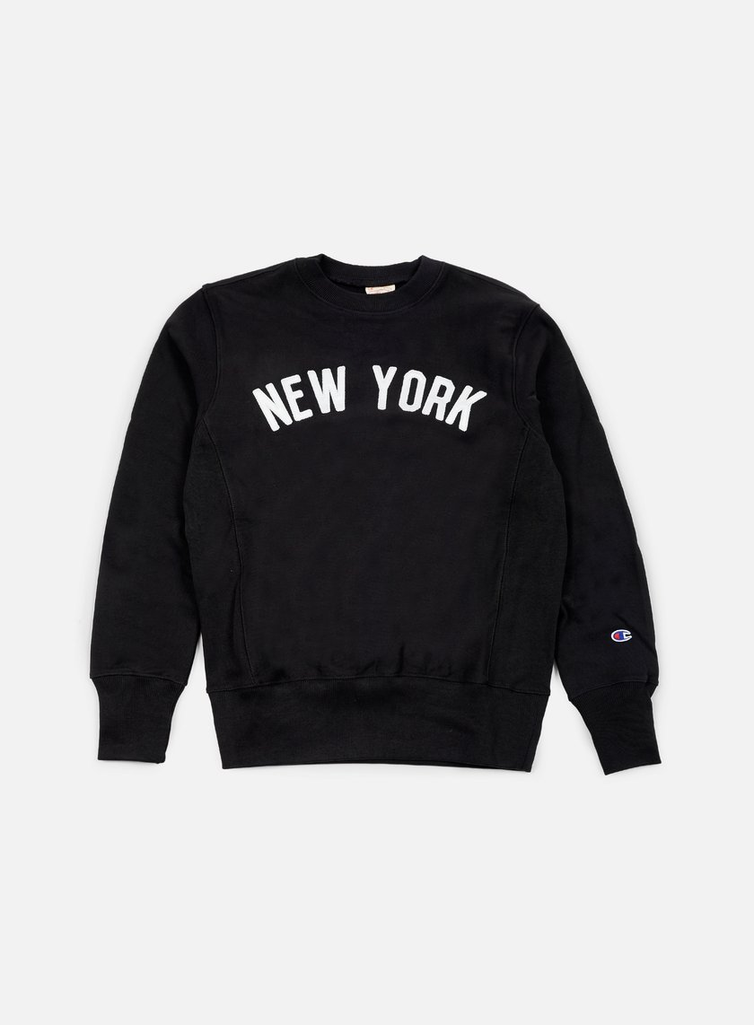 Champion - Reverse Weave New York Terry Crewneck, Black