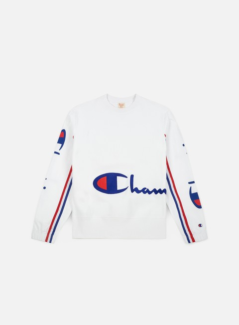 felpe champion reverse weave peached terry crewneck white