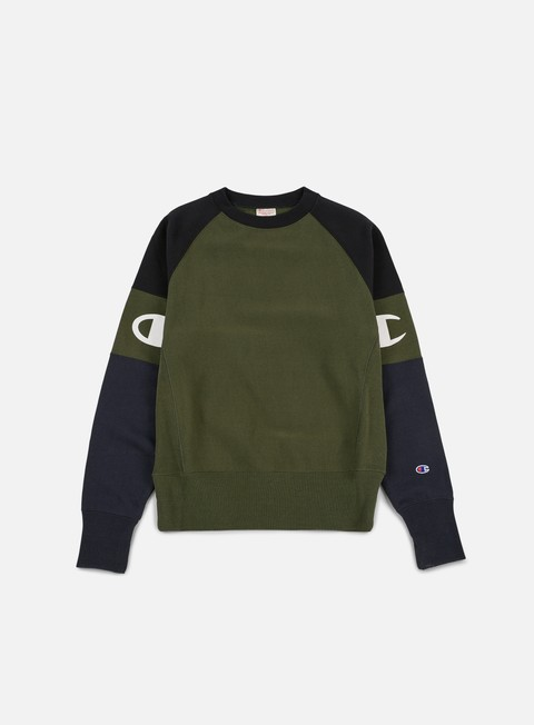 Felpe Girocollo Champion Reverse Weave Raglan Sleeves Terry Crewneck