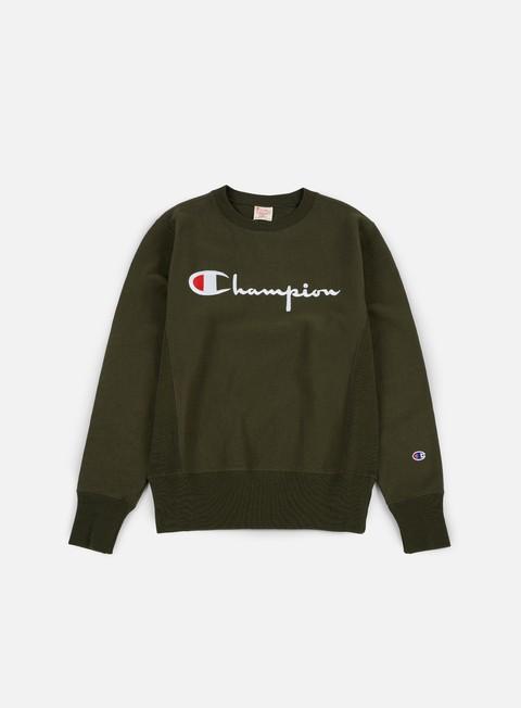 Crewneck Sweatshirts Champion Reverse Weave Script Terry Crewneck