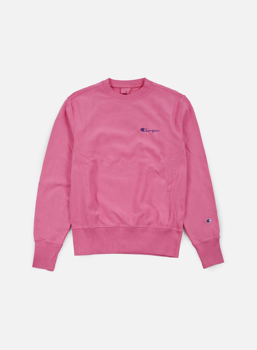 Champion - Reverse Weave Small Script Terry Crewneck, Aztec Pink
