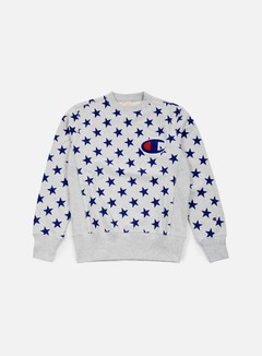 Champion - Reverse Weave Star Terry Crewneck, Heather Grey 1