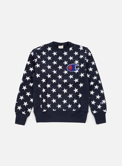 Champion - Reverse Weave Star Terry Crewneck, Navy 1