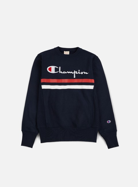 Sale Outlet Crewneck Sweatshirts Champion Reverse Weave Stripe Crewneck