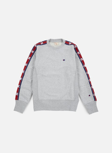 felpe champion reverse weave terry crewneck 90s heather grey