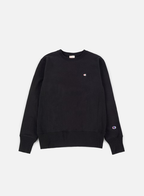 felpe champion reverse weave terry crewneck black