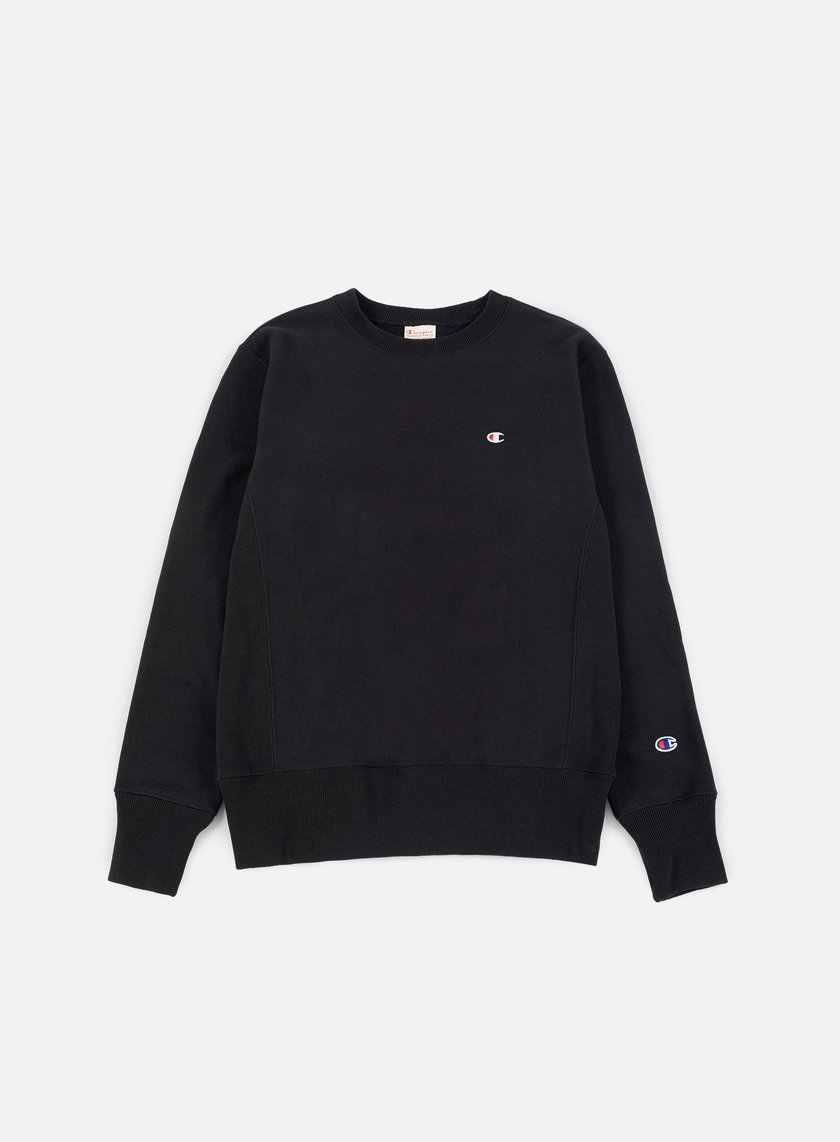 Champion - Reverse Weave Terry Crewneck, Black