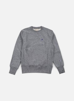 Champion - Reverse Weave Terry Crewneck, Black Melange