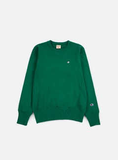 Champion - Reverse Weave Terry Crewneck, Green