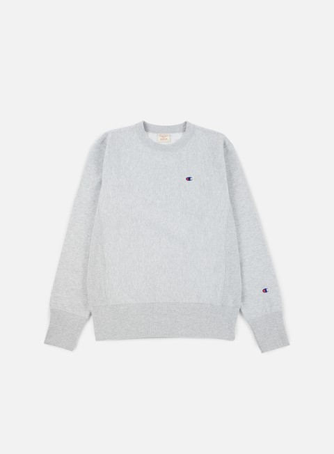felpe champion reverse weave terry crewneck heather grey