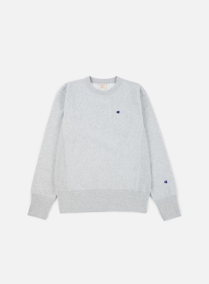 Champion - Reverse Weave Terry Crewneck, Heather Grey