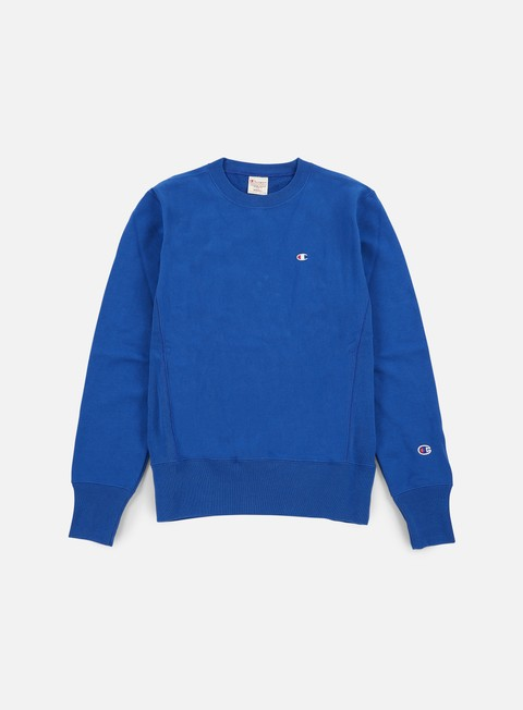 felpe champion reverse weave terry crewneck light blue