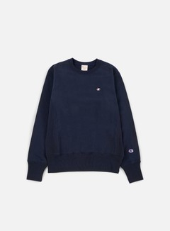 Champion - Reverse Weave Terry Crewneck, Navy