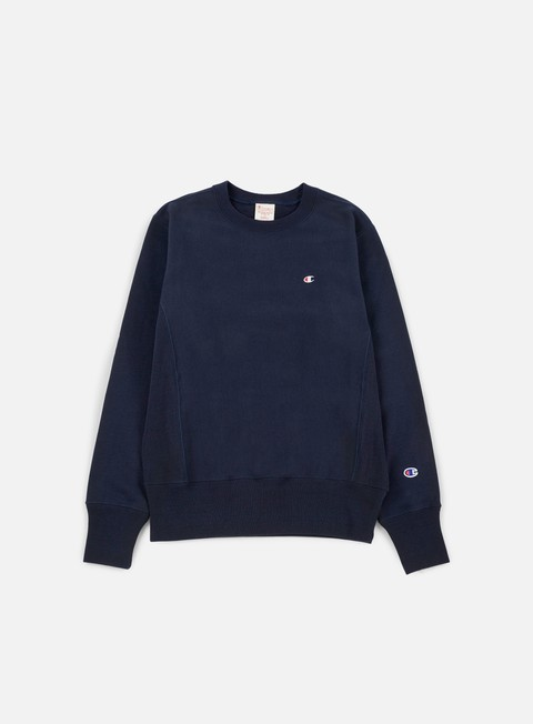 felpe champion reverse weave terry crewneck navy