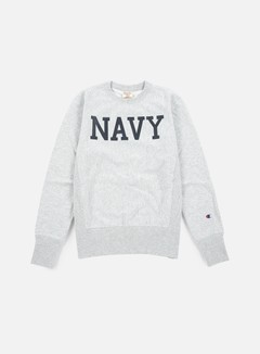 Champion - Reverse Weave Terry Crewneck Navy, Heather Grey 1
