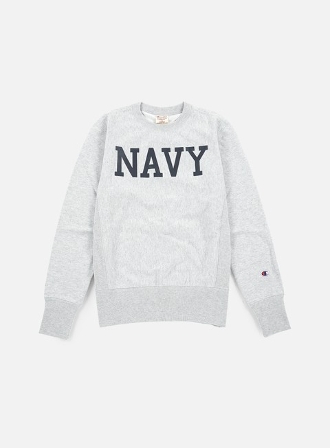 Outlet e Saldi Felpe Girocollo Champion Reverse Weave Terry Crewneck Navy