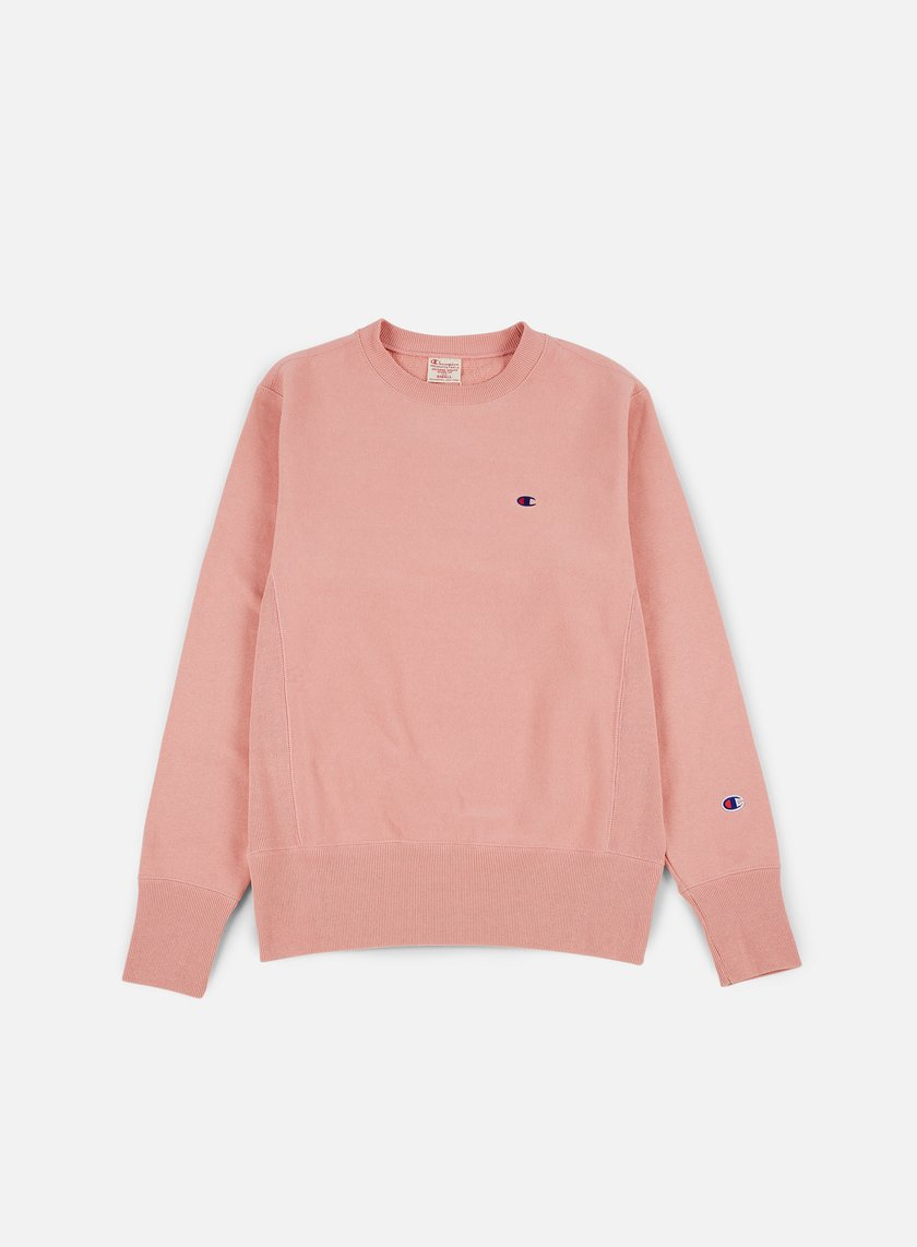 Champion - Reverse Weave Terry Crewneck, Pink