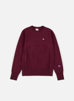 Champion - Reverse Weave Terry Crewneck, Plum 1