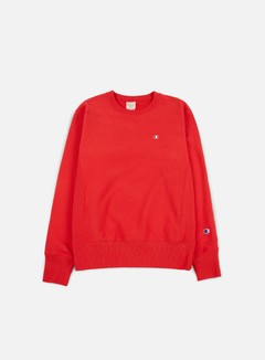Champion - Reverse Weave Terry Crewneck, Red