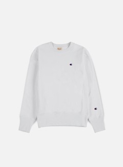 Champion - Reverse Weave Terry Crewneck, White