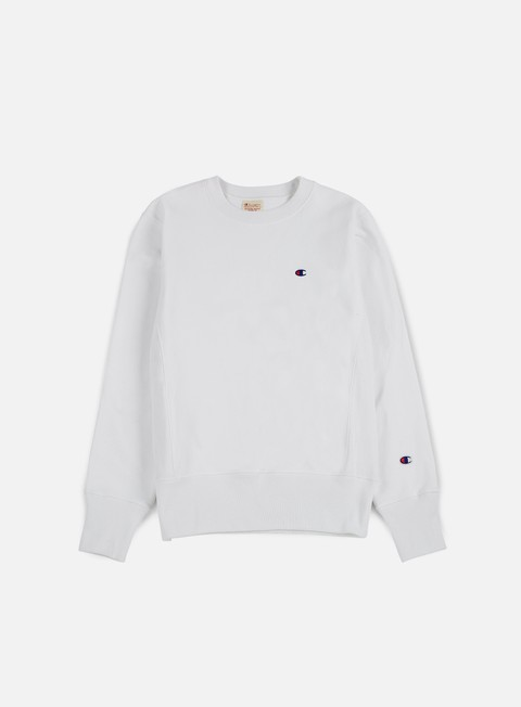 felpe champion reverse weave terry crewneck white
