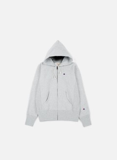 Champion - Reverse Weave Terry Zip Hoody, Heather Grey 1