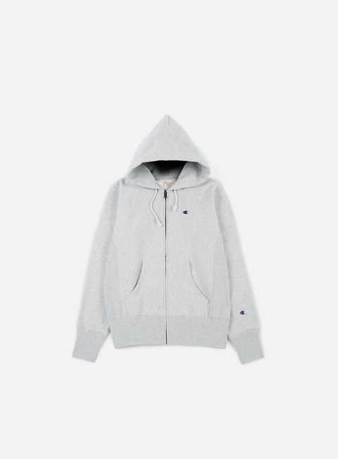 felpe champion reverse weave terry zip hoody heather grey